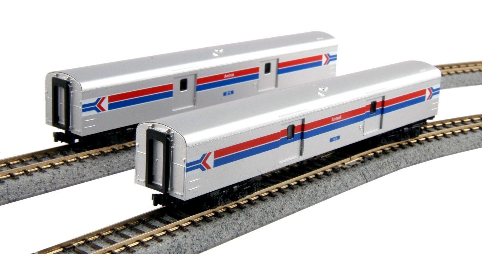KATO 1063512 N Amtrak Baggage Car Phase I 2 Car Set Road 1076 106-3512 NEW