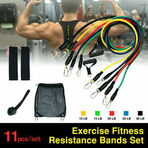 11Pcs Resistance Bands Booty Fitness Gym At Home Exercise Yoga workout Cross Fit