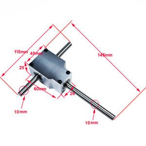 DIY 90° Worm Right Angle Gearbox Speed Reducer Transmission Ratio 1:1 Shaft 8mm