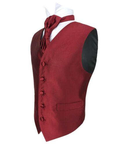 Vianni Boys Plain Satin Page boy Wedding Waistcoat Cravat Vest Set Age 1 to 15