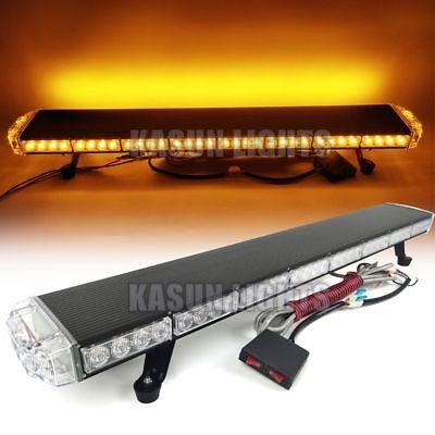 "53/"" 102W LED Traffic Advisor Warning Emergency Flash Roof Light Bar Amber White"