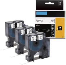 3x Replace Dymo 18444 Industrial 12 Permanent Vinyl Label Tape Rhino 4200 Maker
