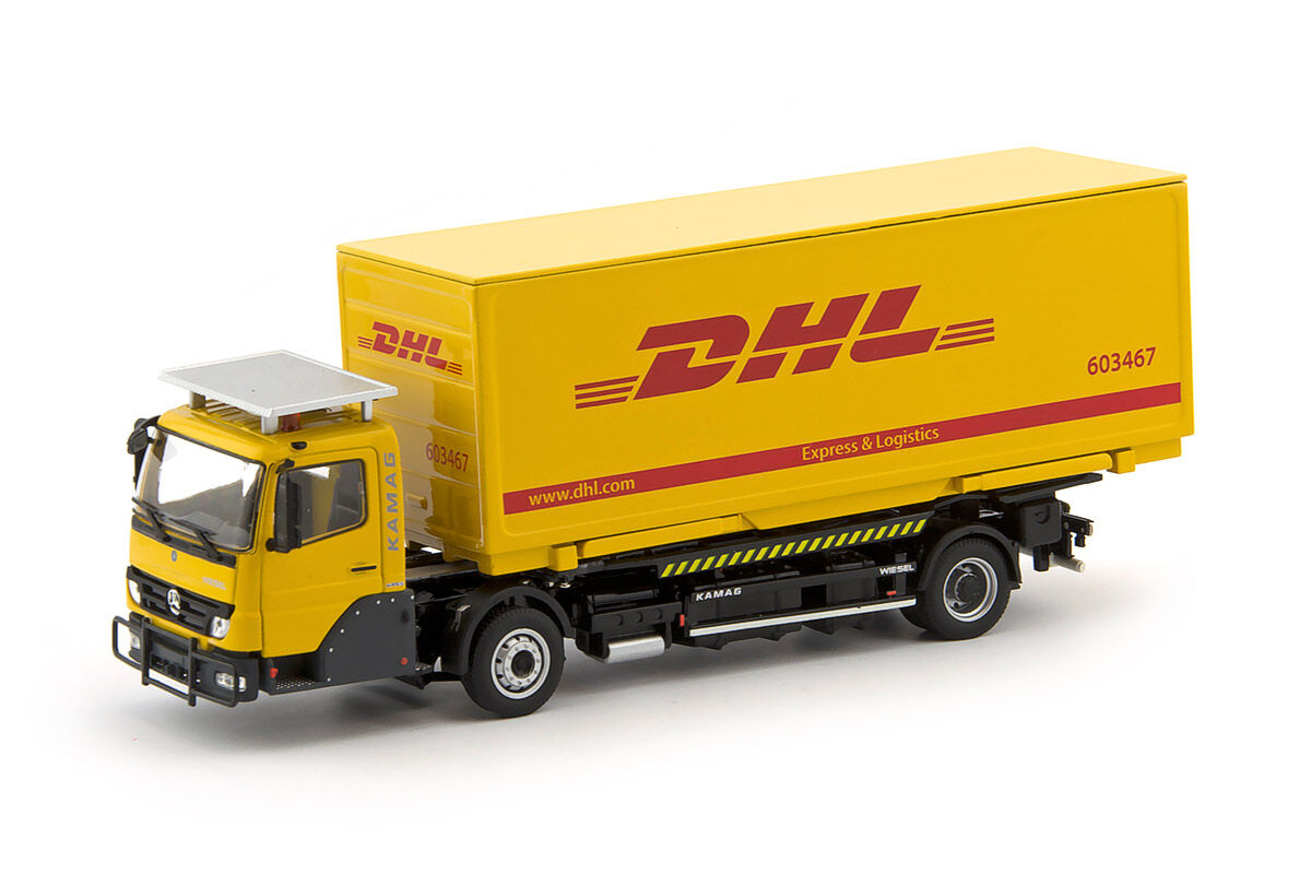 IMC Models 64214814 KAMAG Wiesel Gelb mit DHL Container NEU   OVP