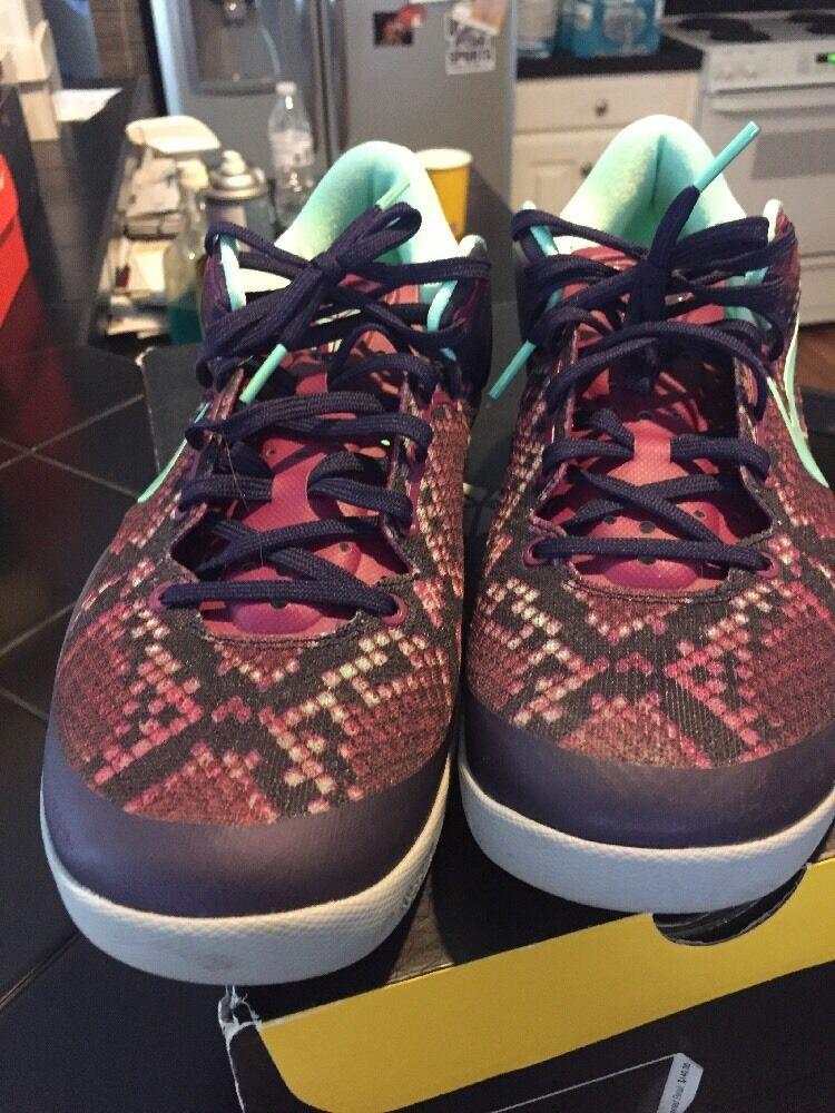 Men's NIKE KOBE SYSTEM 8 Zoom Lakers Dynasty Purple Green SZ 10.5 555035-502