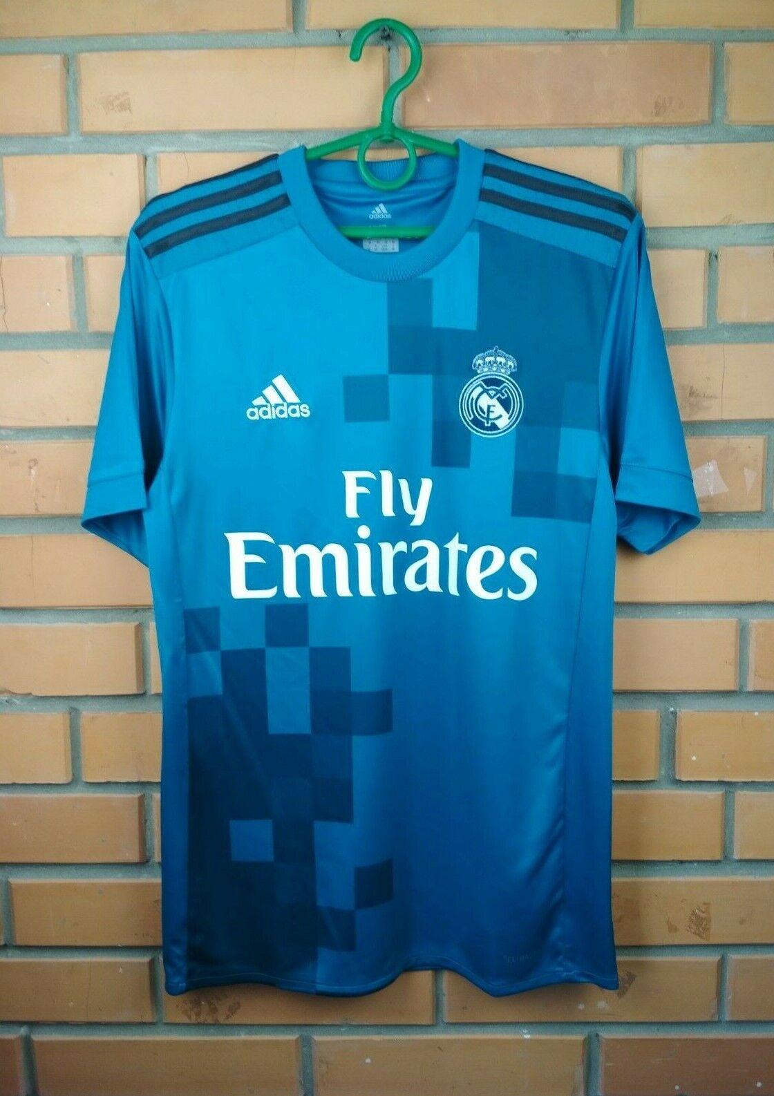 Real Madrid third jersey XS 2017 2018 shirt BR3539 soccer football Adidas
