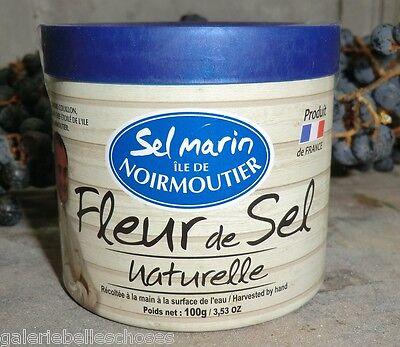 3x100g Fleur de Sel naturelle Ile de Noirmoutier Meersalz France Salz Atlantik