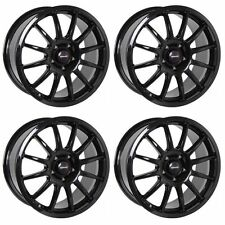 4 x Team Dynamics Black Gloss Pro Race 1.3 Alloy Wheels - 5x108 | 19x8.5"