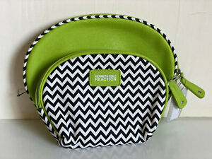 KENNETH-COLE-REACTION-2-PC-DOME-TRAVEL-MAKEUP-POUCH-COSMETIC-ORGANIZER-KIT-CASE