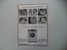 advertising Pubblicità 1967 LAVATRICE NAONIS G 455