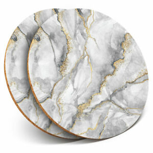 2-x-Coasters-Grey-White-Gold-Marble-Effect-Pattern-Home-Gift-24432