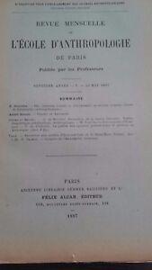 Rivista SCUOLA Antropologia 7 Eme Anni 1897 F.Alcan N° V ABE