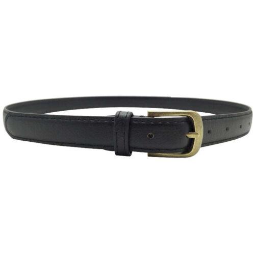 Women Girls Skinny Waist Belt Thin Leather Narrow Waistband Accessory Gift Hot