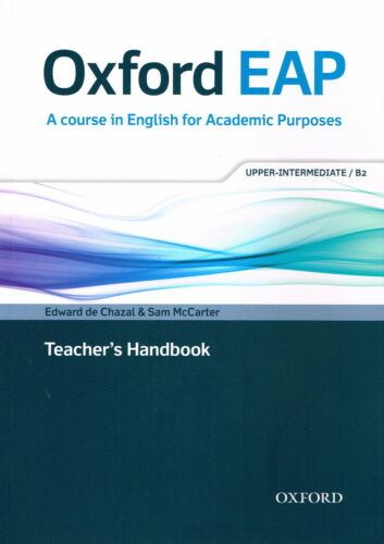 1 of 1 - Oxford EAP UPPER-INTERMEDIATE Teacher's Book with DVD-ROM Academic English @NEW@