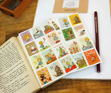 Cute Wannathis Alice in Wonderland Stamp Stickers -2 Sheets