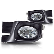 For 2003-2005 Honda Accord Sedan Clear Lens Chrome Housing ABS Fog Lights Lamps
