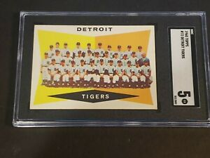 1960 Topps #72 Detroit Tigers SGC 5 Newly Graded & Labelled