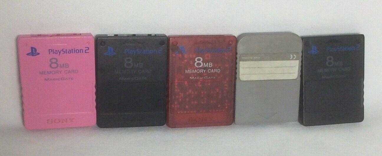 PlayStation 2, Memory Cards 8mb