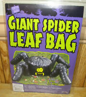 Fun World Giant Spider Leaf Bag Halloween Outdoor Lawn Decor 7+ Feet Wide
