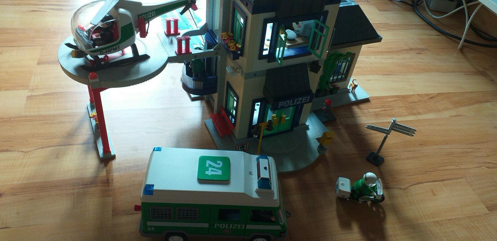 Große Playmobil Polizeistation 3988  3160  3907 usw.