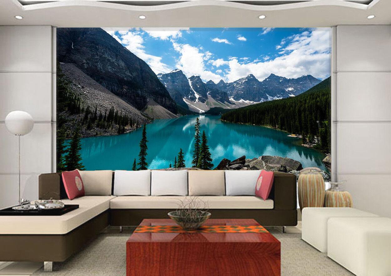 3D Schneeberg See Himmel 8563 Tapete Wandgemälde Tapeten Bild Familie DE Lemon