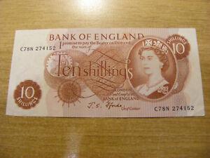 Ten Shillings Banknote J Fforde C78N 274152 , Used still crisp C--N number note
