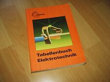 Tabellenbuch Elektrotechnik Europa Lehrmittel 1992 top Zustand