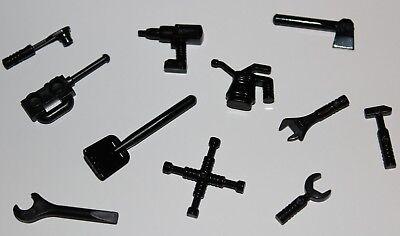 Lego mini figure 1 Metallic Silver Shovel Tool NEW