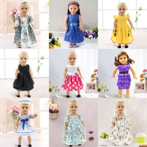 Handmade Doll T-shirt+Pants Party Dress Tops for 18inch Girl Doll Toy Clothes #
