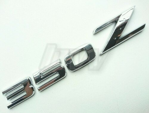 CHROME FINISH REPLACEMENT NISSAN 350Z REAR BADGE LETTERING LETTERS 350 Z NISMO