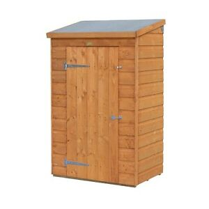 Shed mini wooden store small outside garden storage unit for Small garden storage sheds