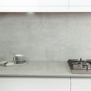 Cloudy Cement Compact Laminate Ultra Thin 12mm Slimline Kitchen Worktop Ebay