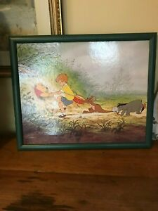 Rare Disney Pooh Framed Print by Nuova Arti Grafiche Ricordi SRI