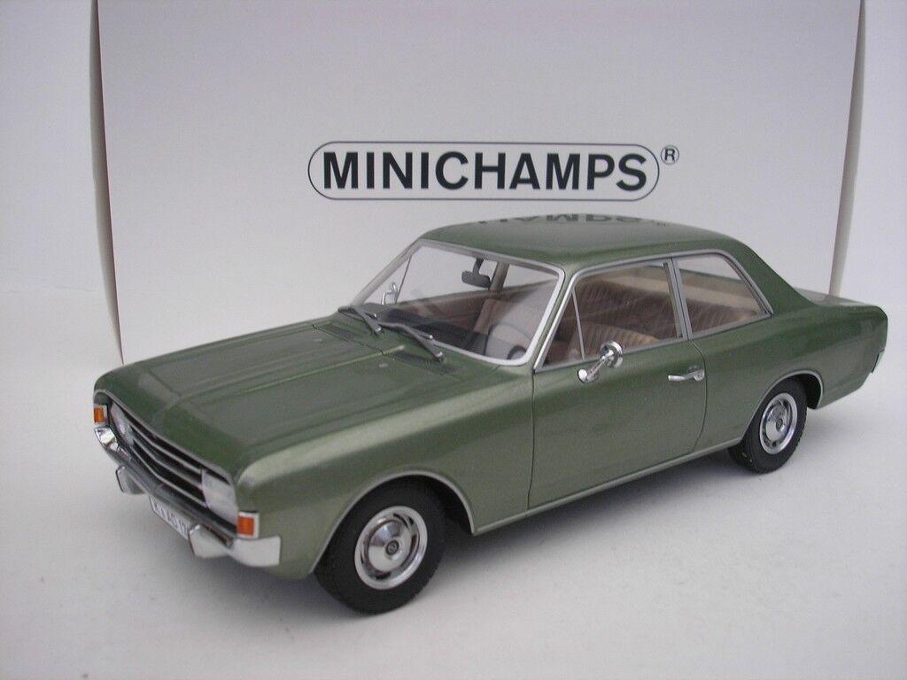 OPEL record C BERLINE 1966 vert metallic 1 18 Minichamps 107047000 NEUF