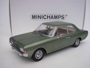 OPEL-REKORD-C-Sedan-1966-Verde-Metalico-1-18-Minichamps-107047000-NUEVO