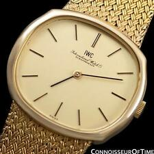 1974 IWC Vintage Mens Midsize Dress Watch, 18K Gold & Stainless Steel