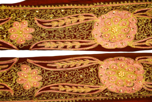 Vintage Saree Border Embroidered Trim Indian Ribbon Deco Craft by The Yd ST2125