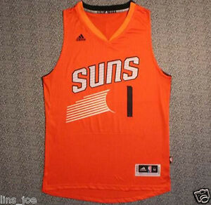 online retailer 59a03 0d568 Details about New Phoenix Suns # 1 Devin Booker Basketball Jersey Orange  Size: S-XXL