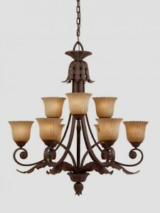 Image Is Loading Triarch 39614 Vienna Collection Weathered Bronze 9 Light