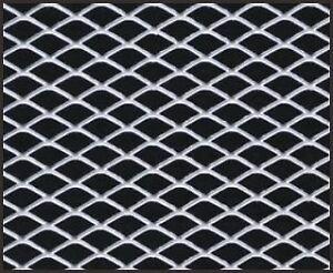 12-034-X-48-034-UNIVERSAL-ALUMINUM-GRILL-GRILLE-DIAMOND-CUSTOM-MESH-SECTION-KIT-SILVER