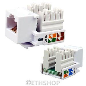 rj45 cat5e cat6 keystone jack network ethernet module. Black Bedroom Furniture Sets. Home Design Ideas
