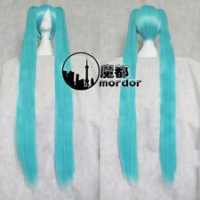 Vocaloid Miku Cosplay Wigs Christmas/Halloween Wigs 120cm Water Blue  Long Hair