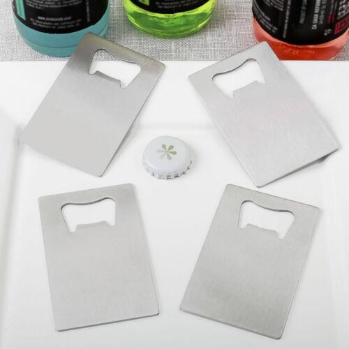 DIY Wedding Party Favor 50-250 Silver Steel Credit Card Bottle Opener