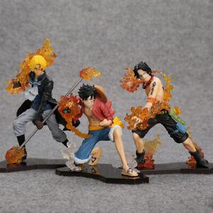 Anime-Manga-One-Piece-Luffy-Ruffy-Ace-Sabo-Figuren-PVC-3PCS-SET-3-Brother-Hot