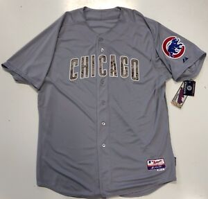 in stock 87b8a 14d1e Details about CHICAGO CUBS USMC AUTHENTIC MAJESTIC ON FIELD MARINES CAMO  COOL BASE JERSEY