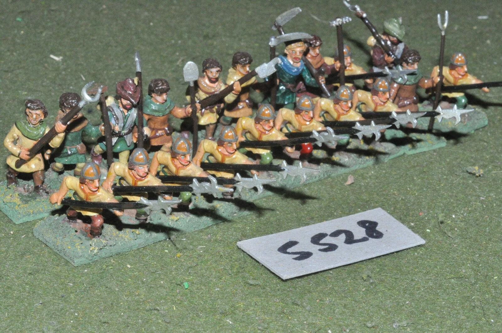 25mm medieval   generic - halberdiers 20 infantry metal painted - inf (5528)
