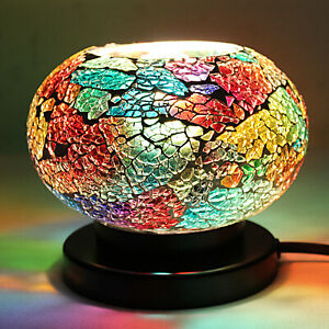 Home-Decor-Handcrafted-Multi-Color-Small-Tuffen-Table-Lamp-with-E-12-Holder