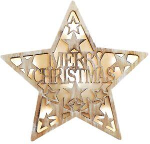 Nous vous souhaitons un Joyeux Noël Plaque en Bois Cadeau signe mural décoration de porte