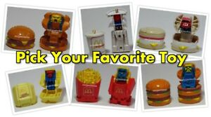 LOOSE-McDonald-039-s-1987-CHANGEABLES-Robot-CHANGEABLE-Food-Transformer-PICK-UR-TOY