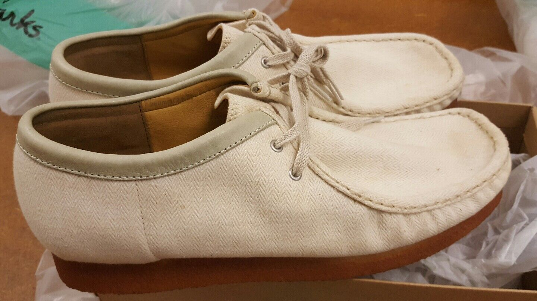 Clarks Originals  X Wallabees Cream Fabric shoes  G