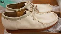 Clarks Originals X Wallabees Cream Fabric Shoe Uk 7.5,8,10.5,11